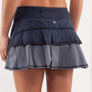 Lululemon Run Pace Setter Skirt Inkwell Stripe 2